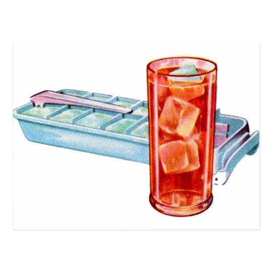 Retro Vintage Kitsch Fifties Ice Cube Tray Cubes