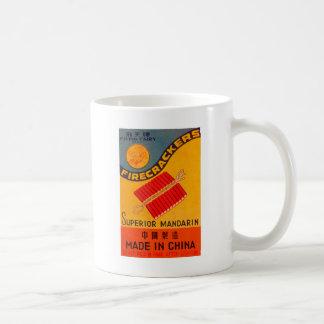 Retro Vintage Kitsch Firecracker Flying Fairy Classic White Coffee Mug