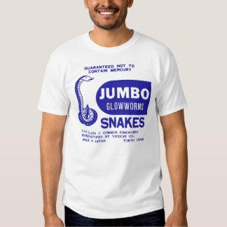 Retro Vintage Kitsch Firework Jumbo Glowworm Snake T Shirt