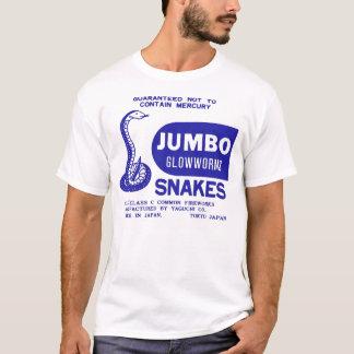 Retro Vintage Kitsch Firework Jumbo Glowworm Snake T-Shirt