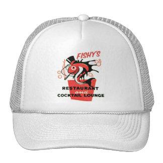 Retro Vintage Kitsch Fishy's Cocktails Restaurant Cap