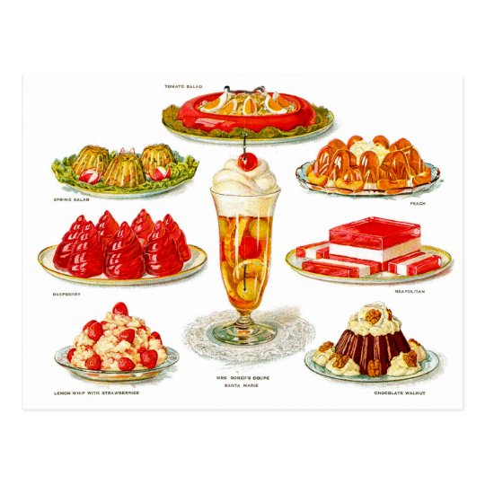 Retro Vintage Kitsch Food 30s Gelatin Desert Art