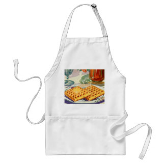 Retro Vintage Kitsch Food 40s Nutty Waffles Art Standard Apron
