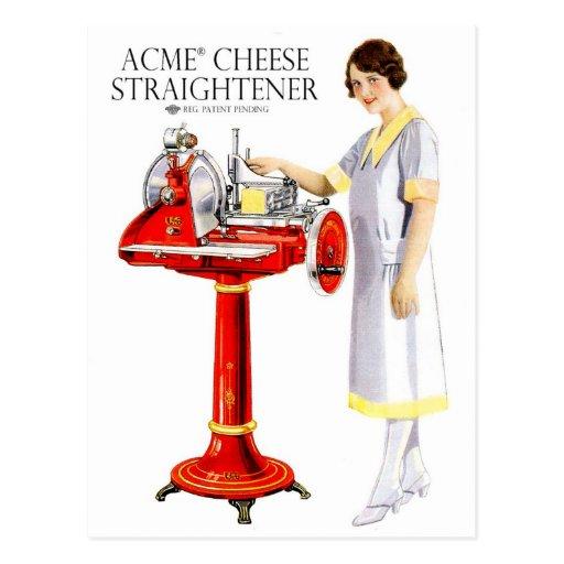 Retro Vintage Kitsch Food Acme Cheese Straightener Post Cards