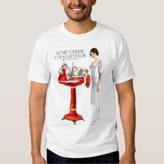 Retro Vintage Kitsch Food Acme Cheese Straightener T Shirts