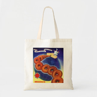 Retro Vintage Kitsch Food Doughnuts Donuts Ad Bag