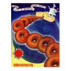 Retro Vintage Kitsch Food Doughnuts Doughnuts Ad Postcard