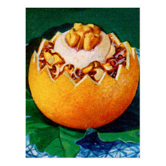 Retro Vintage Kitsch Food Orange Delite Dessert Postcard