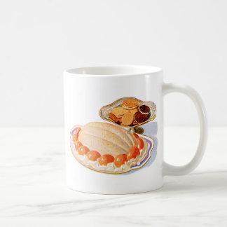 Retro Vintage Kitsch Food Peach Surprise Dessert Classic White Coffee Mug