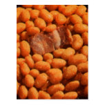 Retro Vintage Kitsch Food Pork and Beans Post Card