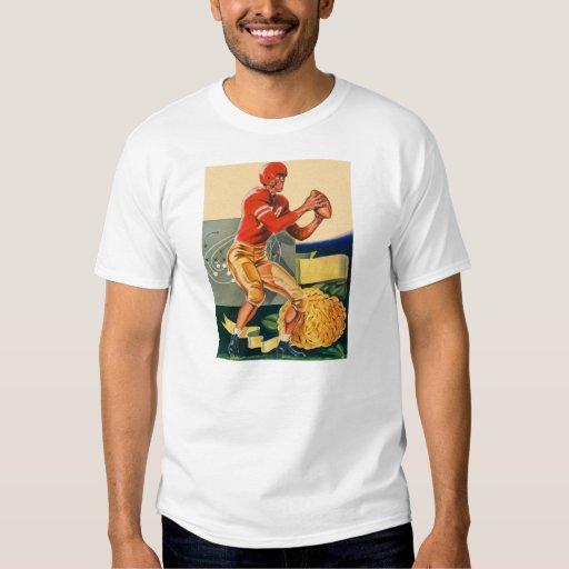 "Retro Vintage Kitsch Football 'Football Jones"" T Shirts"