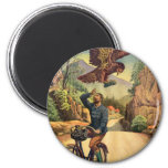 Retro Vintage Kitsch French Bicycle Eagle Nabs Cap 6 Cm Round Magnet