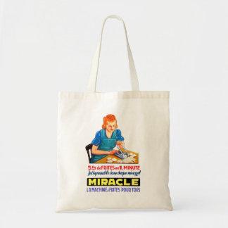 Retro Vintage Kitsch French Fry Frites Dutch Ad Budget Tote Bag