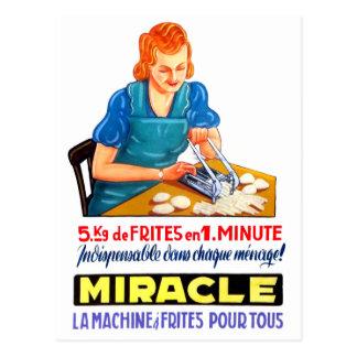 Retro Vintage Kitsch French Fry Frites Dutch Ad Postcard