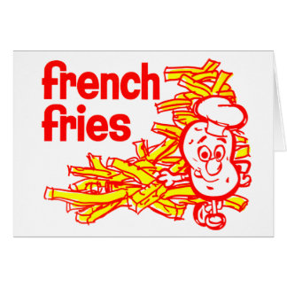 Retro Vintage Kitsch French Fry Package Art Greeting Card