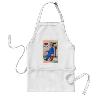 Retro Vintage Kitsch Gag Postcard Join The Army Aprons