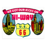 Retro Vintage Kitsch Get Your Kicks on Route 66 Post Card