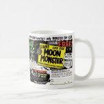 Retro Vintage Kitsch Giant Moon Monster Comic Ad Basic White Mug