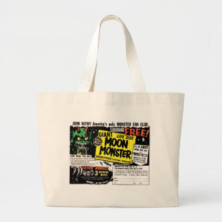 Retro Vintage Kitsch Giant Moon Monster Comic Ad Jumbo Tote Bag