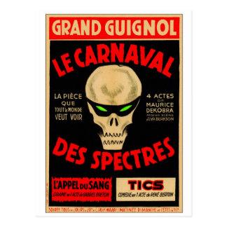 Retro Vintage Kitsch Grand Guignol La Caranval Postcard