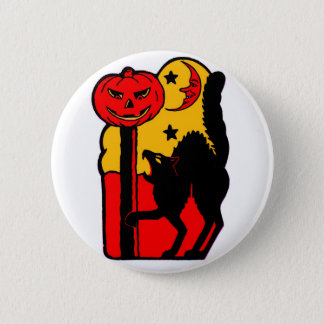 Retro Vintage Kitsch Halloween Black Cat 6 Cm Round Badge