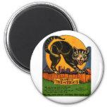 Retro Vintage Kitsch Halloween Black Cat Candy Fridge Magnets