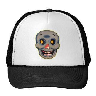 Retro Vintage Kitsch Halloween Happy Skull Trucker Hat