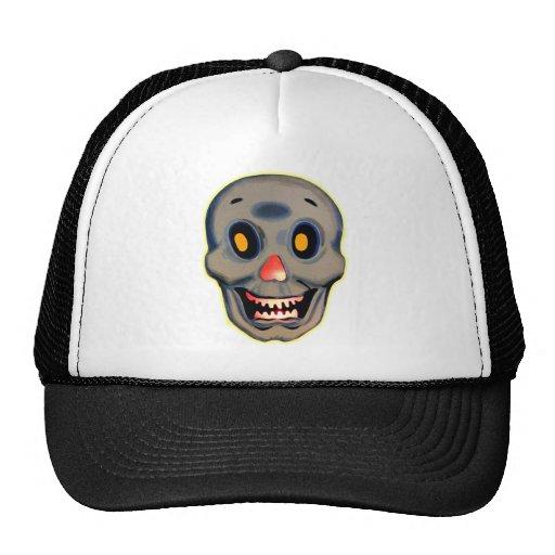Retro Vintage Kitsch Halloween Happy Skull Hat