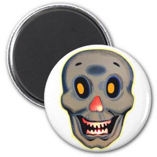 Retro Vintage Kitsch Halloween Happy Skull Magnets