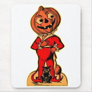 Retro Vintage Kitsch Halloween Jack-o-lantern Mouse Pad