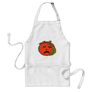 Retro Vintage Kitsch Halloween Pumpkin Toothache Standard Apron