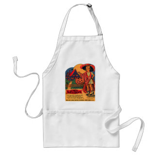 Retro Vintage Kitsch Halloween Trix or Treat Candy Aprons