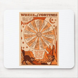 Retro Vintage Kitsch Halloween Wheel of Fortunes Mouse Pad
