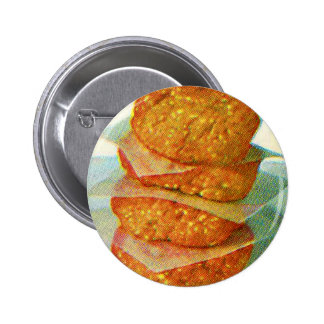Retro Vintage Kitsch Hamburger Patties Burgers Pins