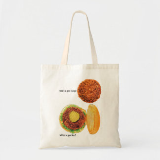 Retro Vintage Kitsch Hamburgers Burgers & Buns Ad Canvas Bag