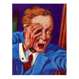 Retro Vintage Kitsch Horror My Eye! My Eye! Postcard