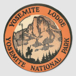 Retro Vintage Kitsch Hotel Yosemite Lodge Tag Stickers