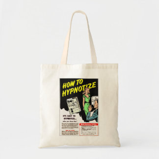 Retro Vintage Kitsch How To Hypnotize Comic Ad Budget Tote Bag