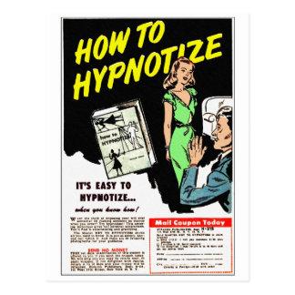 Retro Vintage Kitsch How To Hypnotize Comic Ad Postcard