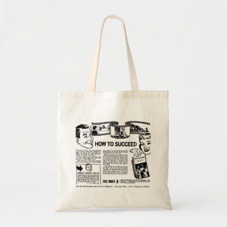 Retro Vintage Kitsch How To Succeed Back Page Ad Budget Tote Bag