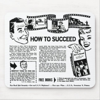 Retro Vintage Kitsch How To Succeed Back Page Ad Mouse Pad
