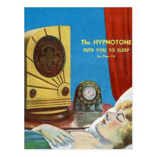 Retro Vintage Kitsch Hypnotize Hypnotone Machine Postcard