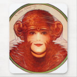 Retro Vintage Kitsch Illusion Chimp or Woman? Mouse Pad