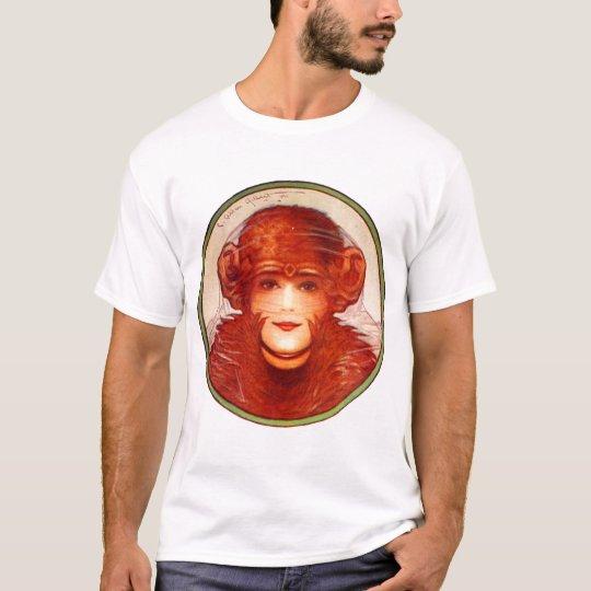 Retro Vintage Kitsch Illusion Chimp or Woman? T-Shirt