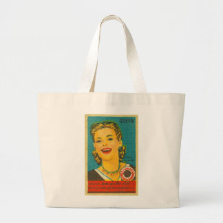 Retro Vintage Kitsch India Queen Brand Matches Jumbo Tote Bag