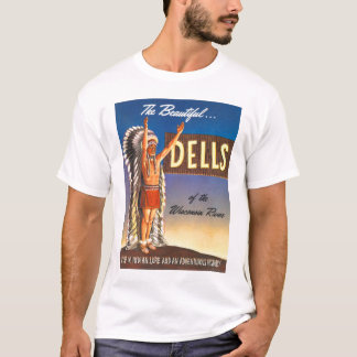Retro Vintage Kitsch Indian Chief Wisconsin Dells T-Shirt