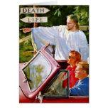 Retro Vintage Kitsch Jesus Points The Way Cards