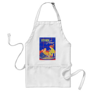 Retro Vintage Kitsch Kid Childrens Book Story Time Aprons