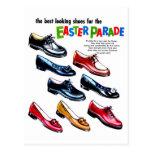 Retro Vintage Kitsch Kids Shoes Easter Parade Post Cards