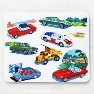 Retro Vintage Kitsch Kids Toy Diecast Cars Mousepads